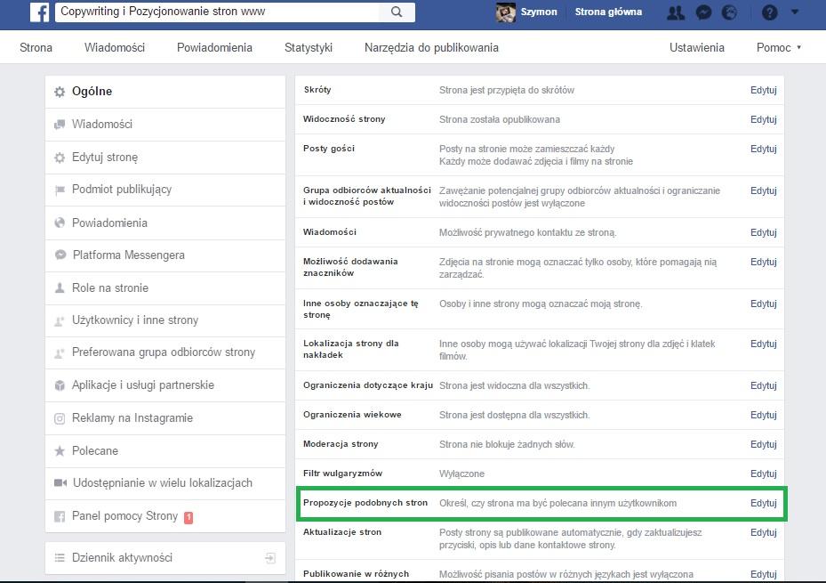 jak usunąć inni lubią też fanpage czyli Jak nie polecać konkurencyjnych stron na Fanpage - Pozycjonowanie strony www i Copywriting przez Facebook