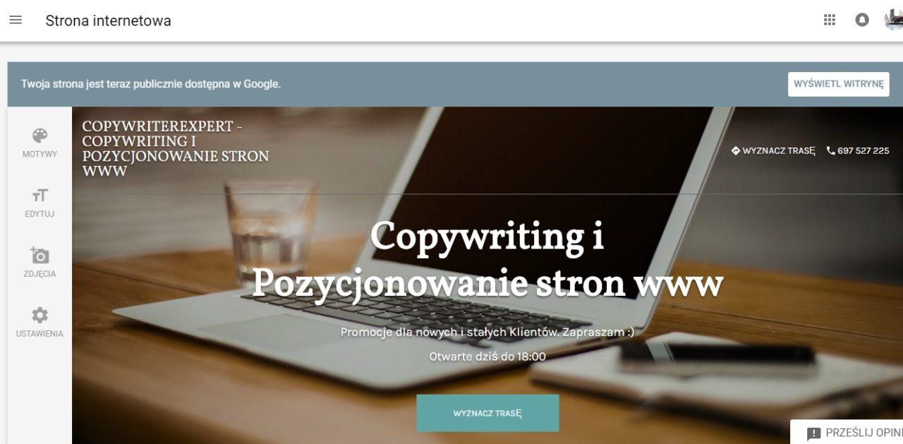 strona www w google firma, copywriterexpert.pl, copywriting i pozycjonowanie strony www, artykuły sponsorowane