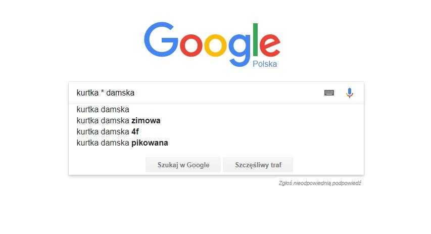 jak dobrać słowa kluczowe za pomocą google i zawężania wyników wyszukiwania