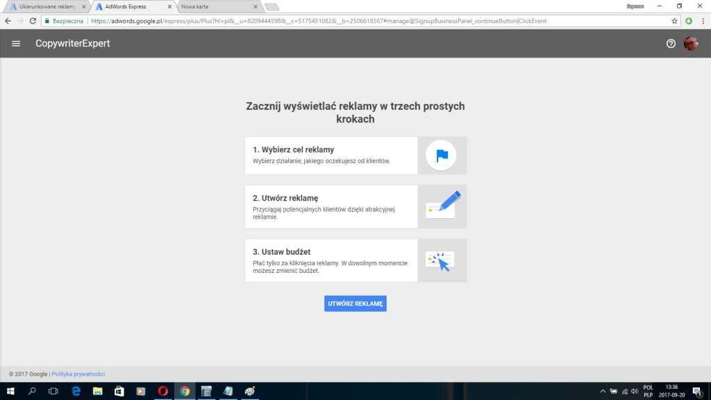 Jak krok po kroku założyć reklamę google Adwords Express cz. 2