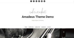 Amadeus writersBlog szablon wordpress darmowy