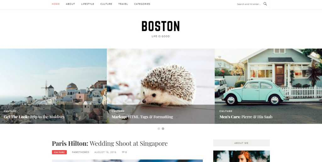Boston szablon wordpress darmowy