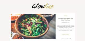 Glow line Lite szablon wordpress darmowy