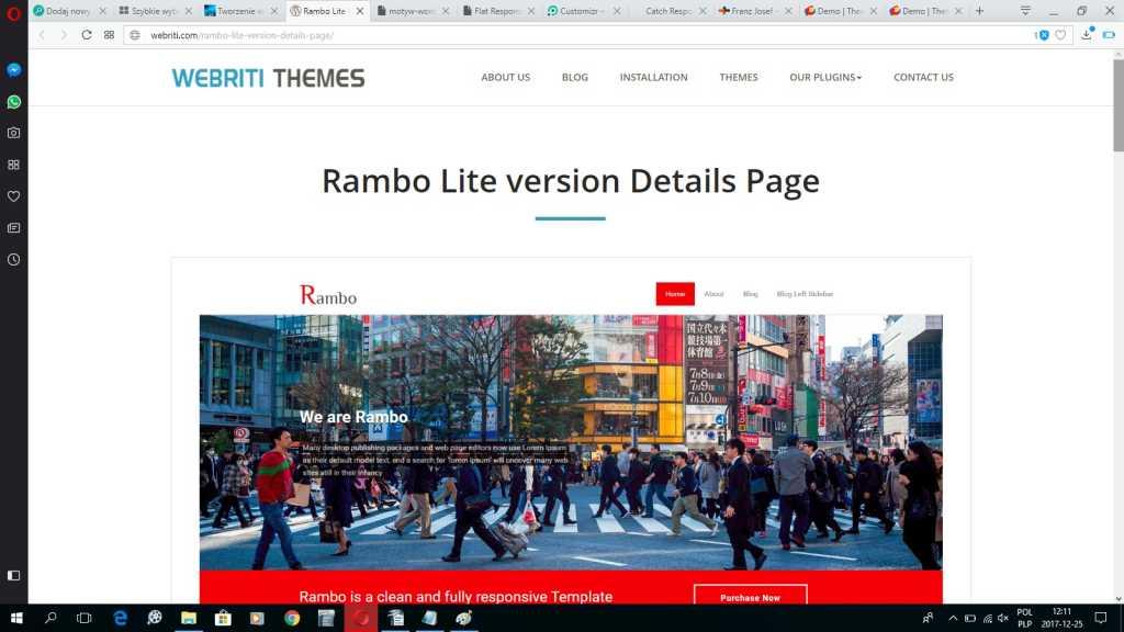 Rambo najlepszy darmowy szablon motyw wordpress