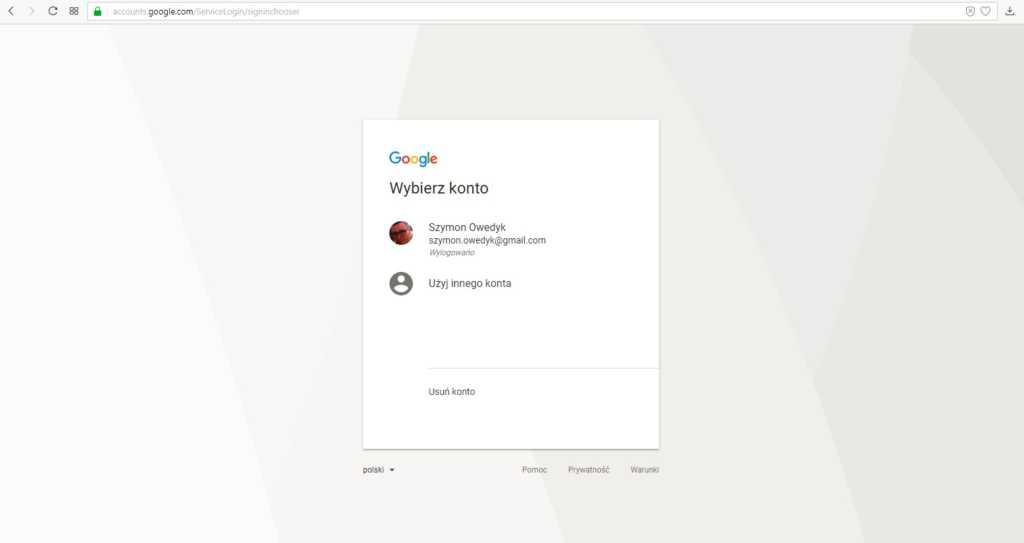 jak założyć bloga na blogspot - logowanie za pomocą konta google gmail