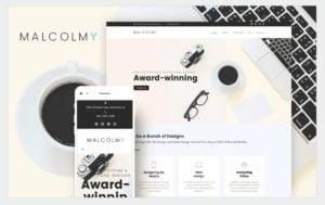 szablon wordpress malcolmy dla portfolio projektanta