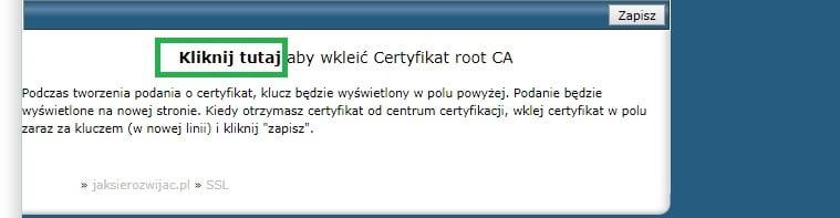 kliknij tutaj aby wkleić certyfikat root CA