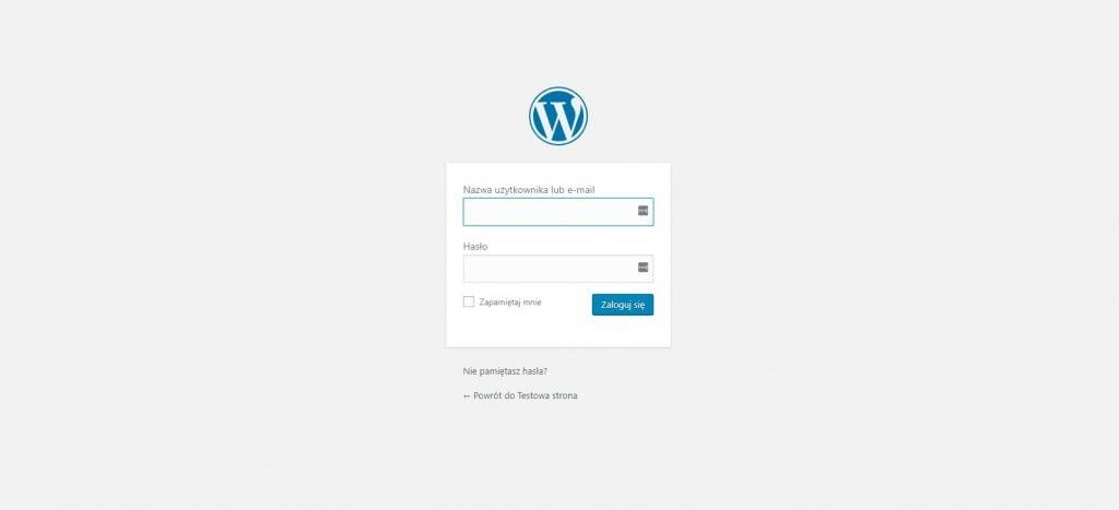 instalacja wordpressa w hostingu atthost 6