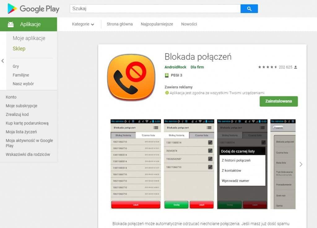 aplikacje do blokowania połączeń i sms - blokada połączeń