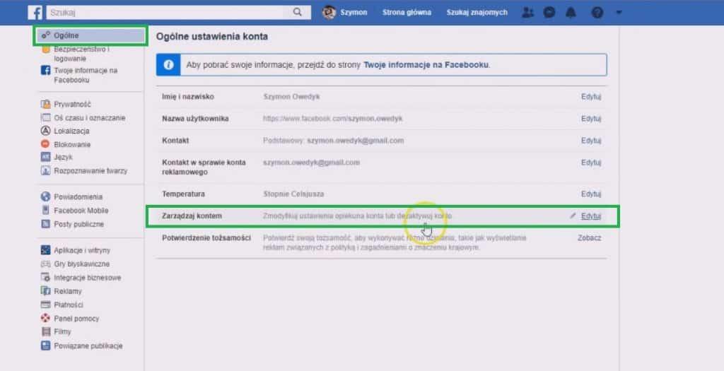 co po śmierci z kontem fb - zarządzaj kontem facebook