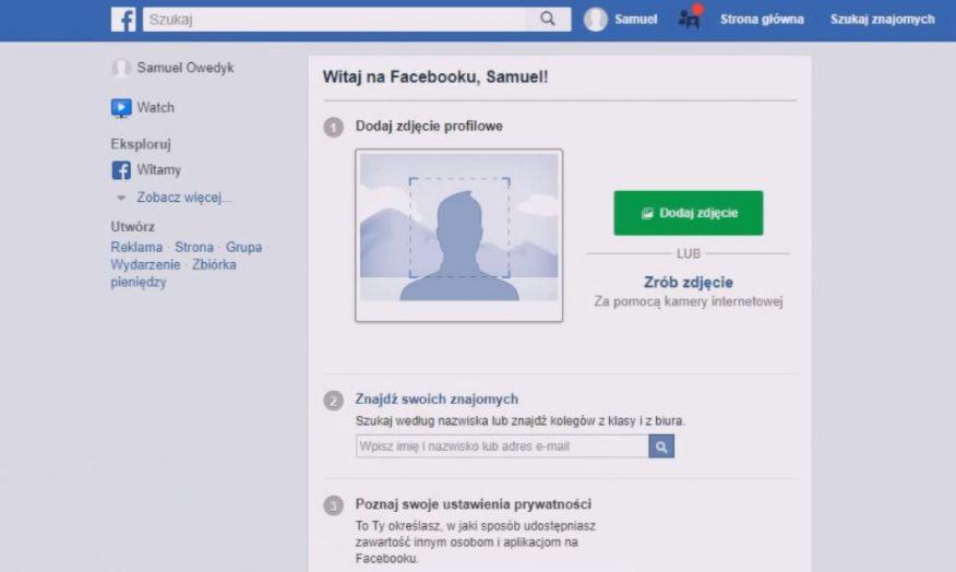 jak założyć konto na facebooku - ukończenie rejestracji nowego konta fb
