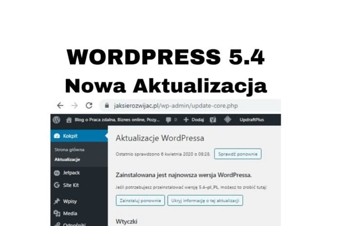 Aktualizacja WordPress 5.4 - jak i co daje? Z kursu WordPressa