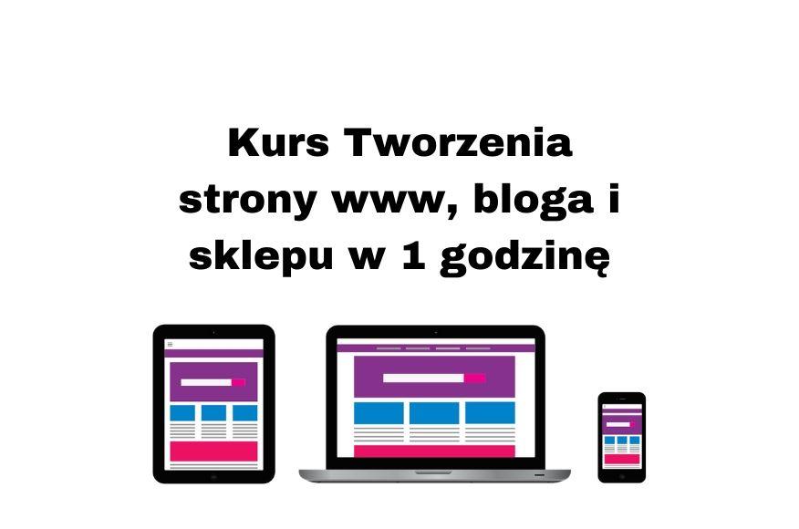 Kurs online Tworzenie stron WIX - stwórz stronę, bloga, sklep w 1h