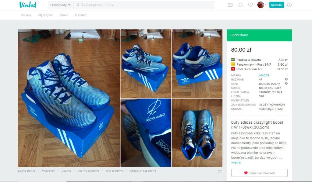 buty do biegania odzież używana zakupiona w serwisie Vinted