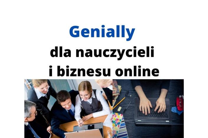 Genially – interaktywne prezentacje – dla nauczycieli i biznesu online