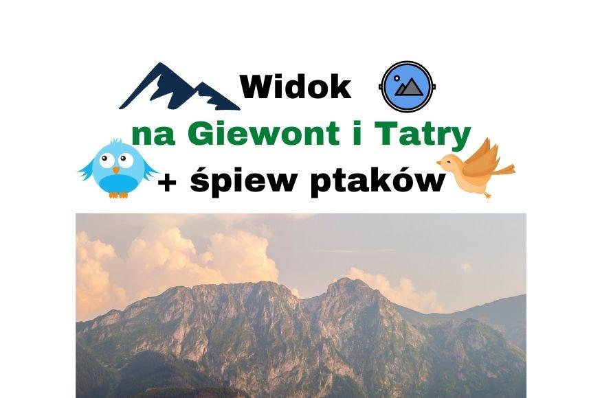 Widok na Giewont i Tatry w Kościelisko Zakopane + śpiew ptaków